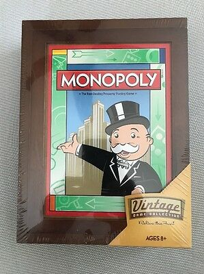 Vintage Monopoly Game/  Hasbro Wooden Box Addition