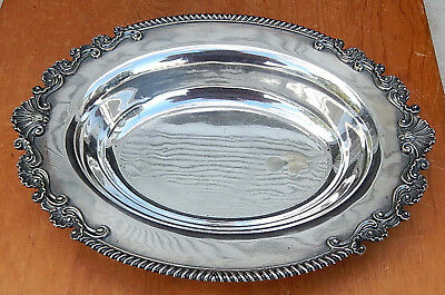 Oval Silverplate Bowl Fancy Edging MAPLE LONDON Fitting Copeland White Baker B12