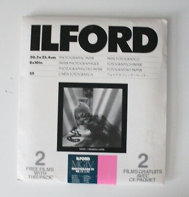 NIP NOS NEW Ilford Photographic Paper MGIV Multigrade IV RC Deluxe 25 Glossy