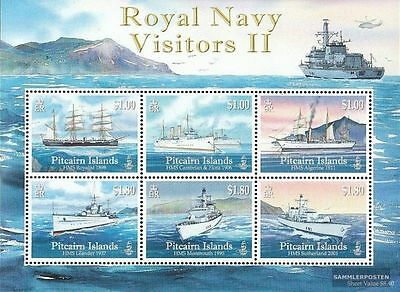 Pitcairn Islands 2010 Royal Navy Visitors II MS MNH