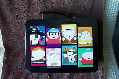 Southpark Metal Lunch Pail Box Red with Black Handle 2012 Great New Condition
