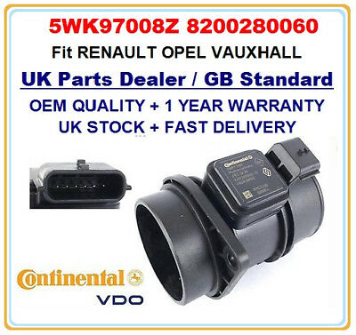 Mass Air Flow meter sensor 5WK97008 8200280060 GENUINE OEM for OPEL VAUXHALL
