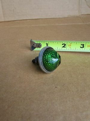 Vintage Cats Eye GREEN Glass Rat Rod Bicycle Motorcycle Tail Light Reflector