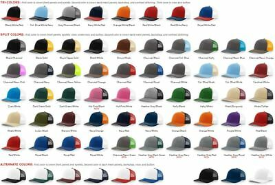 WHOLESALE  Richardson Trucker Ball Cap Mesh back Hat Snap back Cap 112