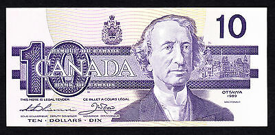 Canada 10 Dollars $10 1989  P. 57a UNC Note