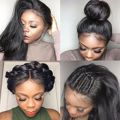 100% 7A Brazilian Virgin Full Lace Human Hair Extension Glueless Full Lace Front
