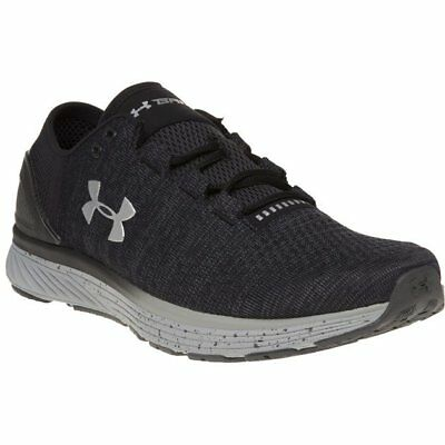 New Mens Under Armour Black Charged Bandit 3 Nylon Trainers Running Style Lace
