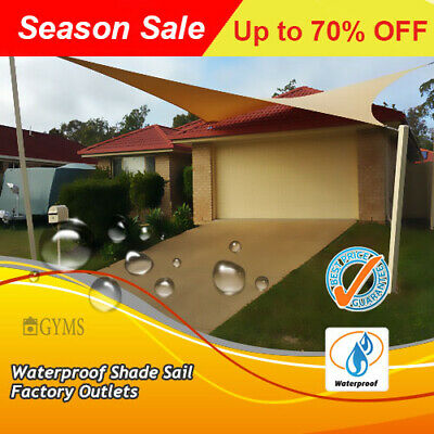 Waterproof Shade Sail 3m triangle,3*3*3m beige best price factory outlet