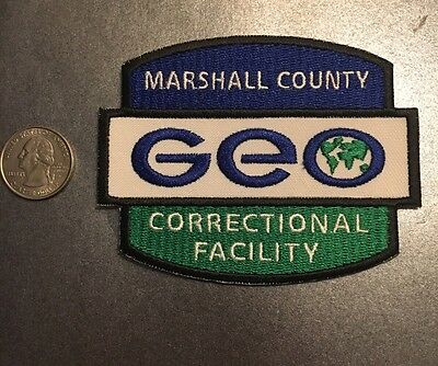 GEO Marshall County CorrectionalFacility Private Prison Police Patch Mississippi