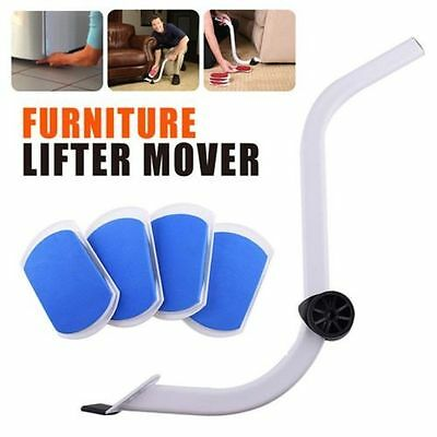 Heavy Furniture Moving System Lifter Tool with 4 Slide Glider Pad Sofa easy Move