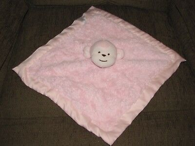 Pink Kidsline Kids Line Monkey Security Baby Blanket Lovey Silky Satin Girl