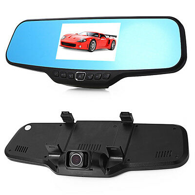 "C20 4.3""TFT CMOS 5.0MP + 1.3MP Rearview Mirror Car DVR Camcorder Black"