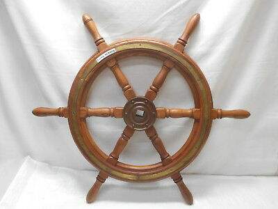 Vintage Medium Ship's Wheel 75cm Wooden Japanese Nautical Maritime #81