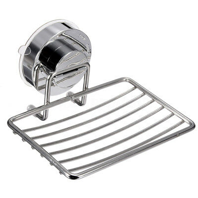 7KG Strong Suction Wall Soap Dish Holder Bathroom Shower Cup Basket Tray Si A4P8