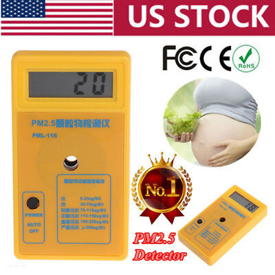 PM2.5 Detector Particle Monitor Dust Meter Air Quality Analyzer SHARP Sensor USA