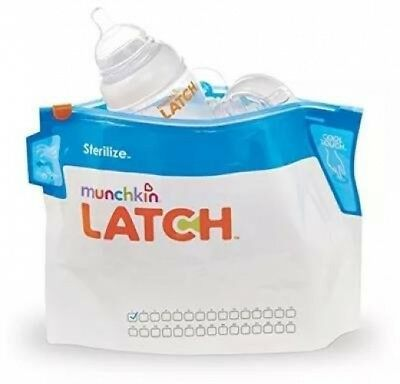 Convenient Safe Munchkin Latch Steriliser Bags (Pack Of 6)