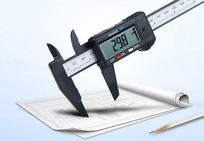 150mm/6inch LCD Digital Electronic Carbon FiberVernier Caliper Gauge MicrometerT