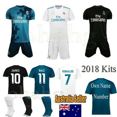 2018 Football Jersey Boy Kit Short Soccer Sportswear Suits 3-14 Years Old+socks