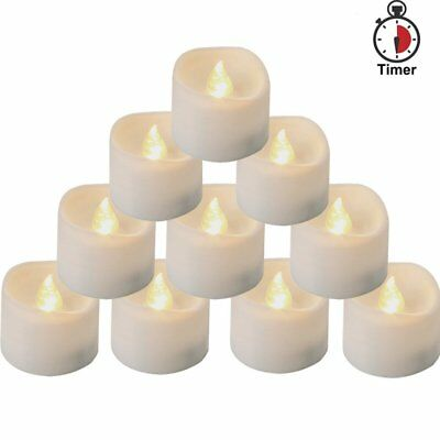 Battery Operated LED Flameless Tea Light Candles with Timer electric candles