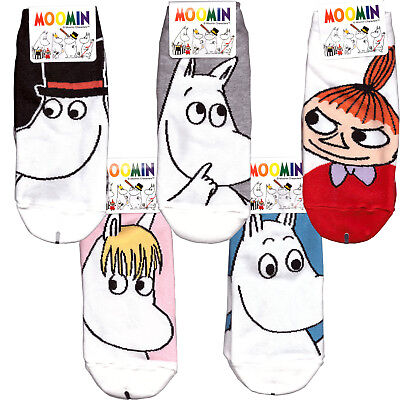 Moomin big face Low Ankle socks for Woman 1 or 2 pairs choose option 5 kinds