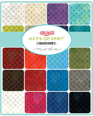 Quilting Fabric Charm Pack - Moda Fabrics -Grunge Hits The Spot