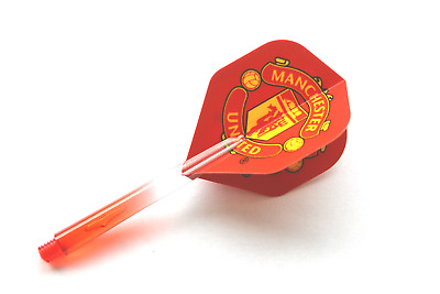 Manchester United Dart Flights & Red/Clear 2 Tone Stems
