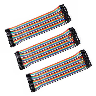 3 set 40pc Dupont Wire Jumper Cable 1P-1P 2.54mm Male to Female length 20cm C3R1