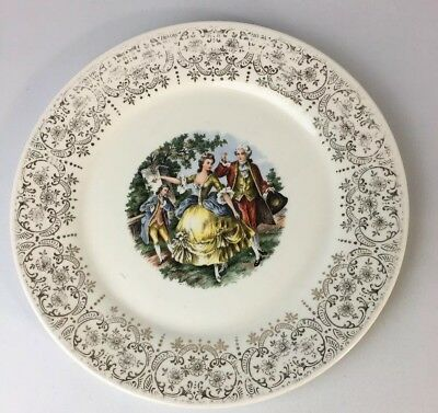 Sebring Pottery Company USA Chantilly 9 3/8 Luncheon Plate Dish IT-S284