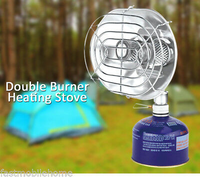 BRS Warmer Heater Heating Stove  with Double Head Burner for Outdoor Camping