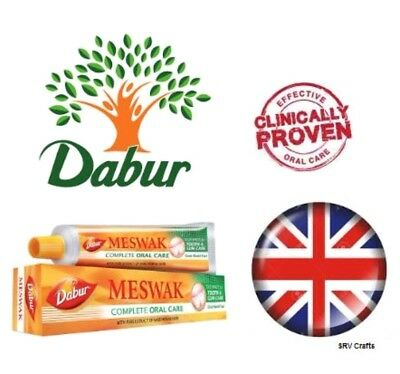Dabur Meswak Toothpaste Prevents Tartar Plaque Decay Bacteria Germs Bad Breath