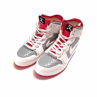 3D mini sneaker Air Jordan 1 CHICAGO WHITE lace 1:6 action figure M05-01 madxo