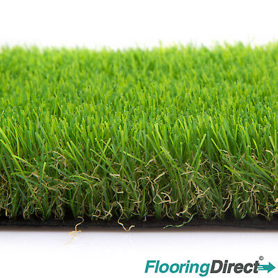 Clearance Artificial Grass Burford 30mm Green Garden Realistic Lawn Astro Turf