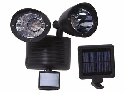 Twin Solar Power 22 Led Pir Motion Sensor Security Light Garden Rechargeable