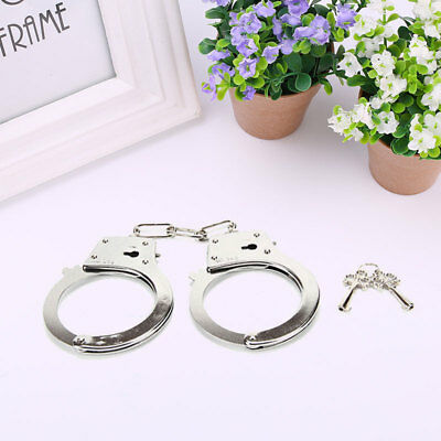 Metal Handcuffs Police Halloween Tricks Joke Pranks Fool's Day Costume