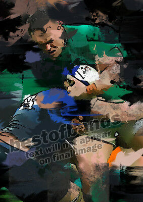 RUGBY UNION Art A4 - Ireland Scotland Wales England 6 Nations SIGNED Print 1/20