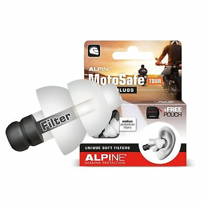 Motorcycle Earplugs Reusable Hearing Protection Alpine Motosafe Tour