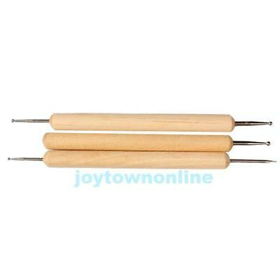 3pcs Copper Ball Stylus Tool Sets for Embossing Pattern Clay Sculpting #JT1