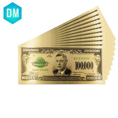 1934 Years USA 24k Gold Banknotes One Hundred Thousand Dollar Bill Collections
