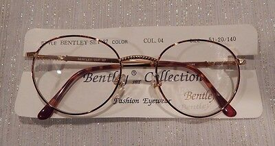 Vintage Bentley Set 37 Tortoise/Gold (04) 51/20 P3 Round Eyeglass Frame NOS #186