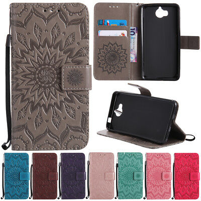 For Huawei Y3 Y5/Y6 2017 Luxury Slim Flip Stand Card Wallet Leather Case Cover