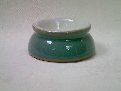 Denby Manor Green Small Butter Pat Pot Dish 6cm dia Very Good Condition