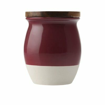NEW Maxwell & Williams Artisan Dipped Canister 1L Pomegranate