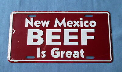 New Mexico Beef Is Great- Embossed Metal License Plate- New