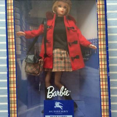 New other Barbie Doll with BURBERRY LONDON BLUE LABEL Limited Edition Japan Rare