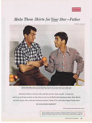 1954 Dean Martin & Jerry Lewis Make these Shirts for Your Star Print Ad