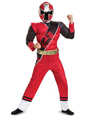 Power Rangers Red Ranger Ninja Steel Muscle Child Costume