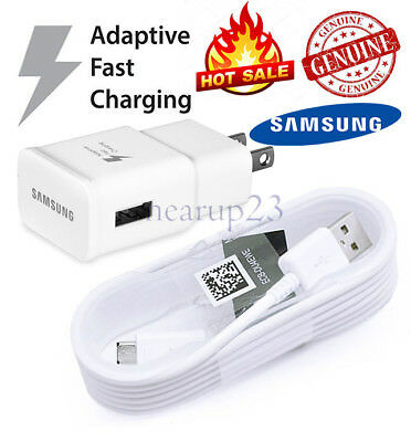 OEM Samsung Galaxy S6 S7 Edge Note 4 5 Adaptive Fast Rapid Wall Charger+5ft cord