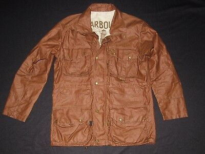 BARBOUR International Duralinen Motorcycle Jacket Men's Size Large Brown