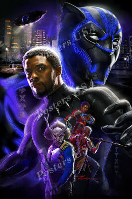 Marvel Black Panther Movie Poster Glossy Finish Posters USA FIL123