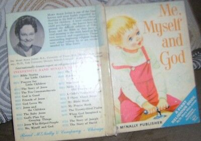 """CHILDS VINTAGE STORY BOOK- """"ME,MYSELF and GOD"""" by RAND McNALLY 1965"""